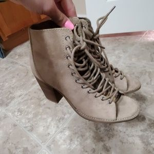 Lace up style heels
